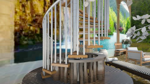 Patio By The Falls - Country - Garden - by HaileySpeten