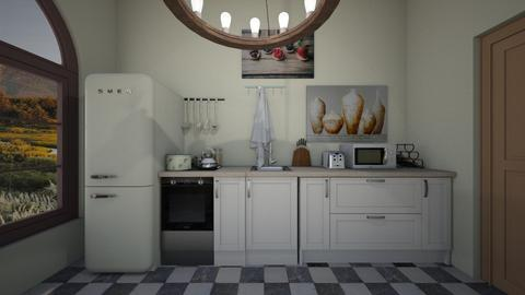 cottage kitchen - Kitchen - by linguaivisionSC