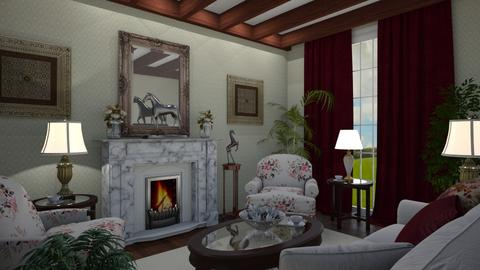 English Tea - Living room - by GraceKathryn