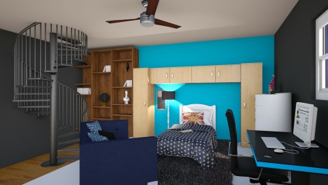 Teen Room - Bedroom - by N_Petra