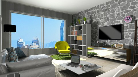 Small Apartment - Modern - Living room - by Agnes Lai