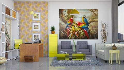 Office em tons de yellow - Office - by Alecio
