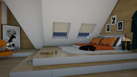 on the floor1 - Modern - Bedroom - by donella