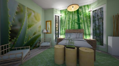 bamboo room - Bedroom - by LooseThreads