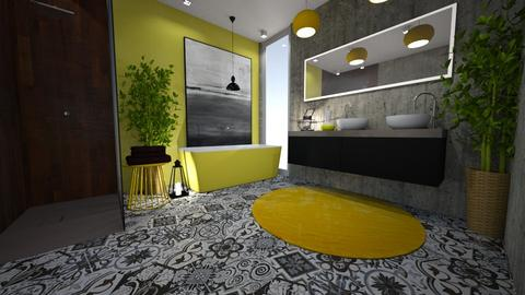 yellow concrete - Bathroom - by stef_eck