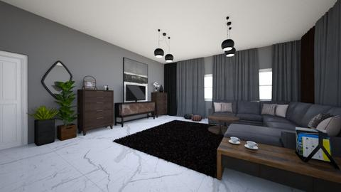 Black living room - Living room - by DomiMat