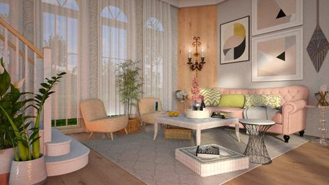 Touch Of Pink   Living Room   By Just Bee