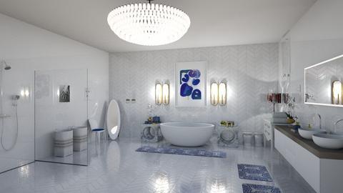 mid century bathroom - Glamour - Bathroom - by sephara