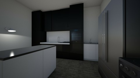 black - Minimal - Bathroom - by Alisis_Harper