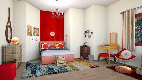 red - Bedroom - by straley123456