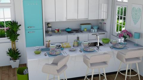 KicheN blue - Kitchen - by TeA design Belgrade