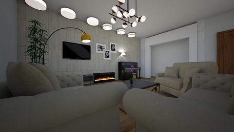 Salon Tomek - Living room - by kxw