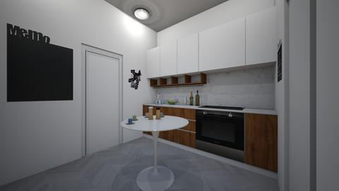 CollegeDormKitchenShared - Modern - Kitchen - by jade1111