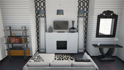 Checkered Lies - Glamour - Living room - by Addie Smooches