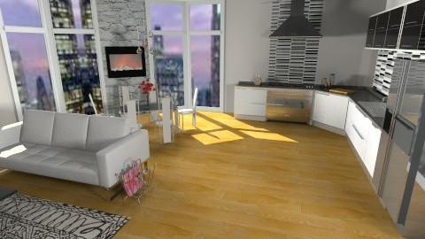 city loft - Living room - by teen bedroom