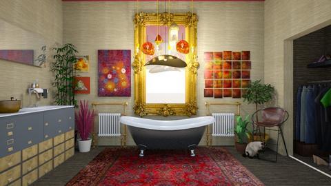 Bohemian Bathroom - Bathroom - by amyskouson