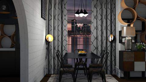 night - Modern - Dining room - by NEVERQUITDESIGNIT