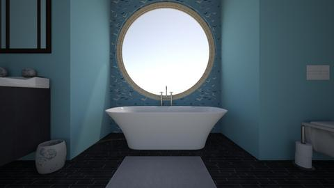 Blue and Black Bathroom  - Bathroom - by Snailiotis
