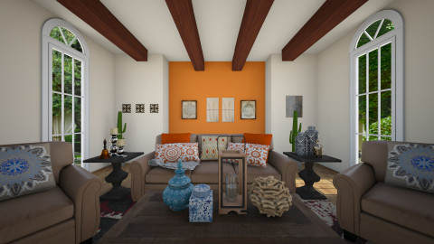Viva Mexico - Rustic - Living room - by klmmorales