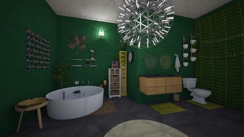 Urban Jungle Bathroom - Bathroom - by starkey77