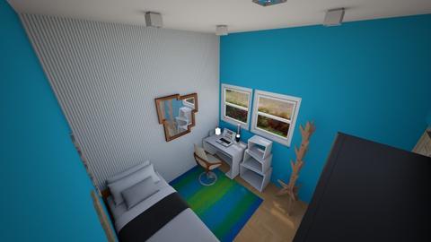 blue style - Minimal - Bedroom - by ninaanggini