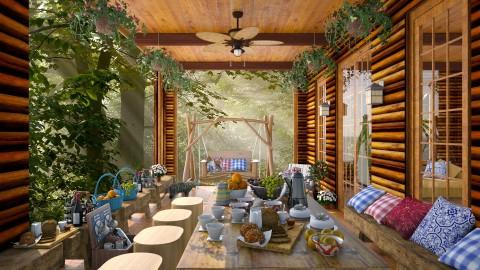 Log Cabin Porch  - Garden - by lydiaenderlebell
