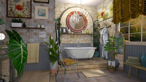 boho bath R - Eclectic - Bathroom - by donella