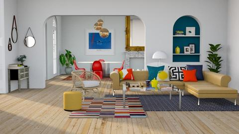 Eclectic Living - Eclectic - Living room - by sabaclayes