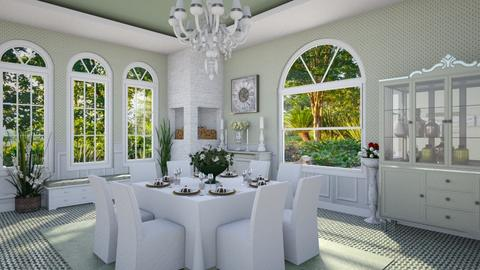 Design 411 Springtime Luncheon - Dining room - by Daisy320