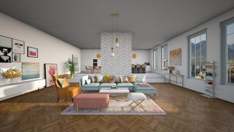 Modern Boho Style  - Glamour - Living room - by littlewhitedesign
