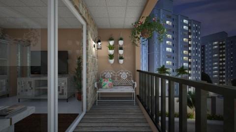 Apto Quarto Sala Casal - Modern - Garden - by Mariesse Paim