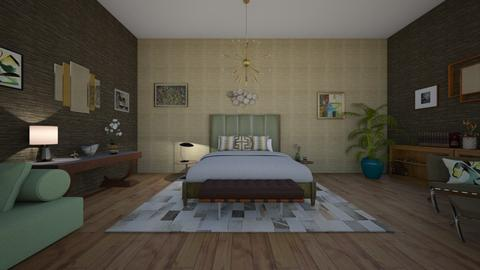 A Mid Century Modern - Bedroom - by sephara