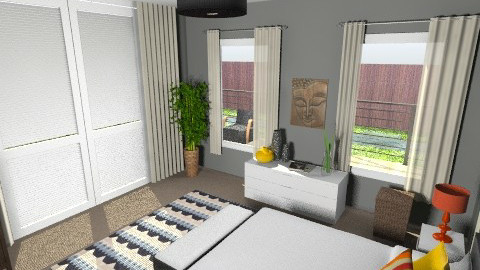 bedroom w deck - Bedroom - by awiley