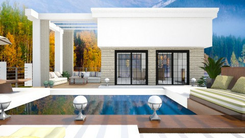 Pool House in Winter - Modern - Garden - by channing4