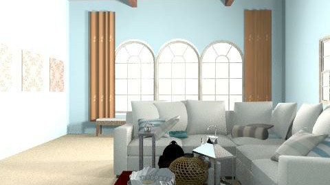 family room - Rustic - Living room - by emilypinnock