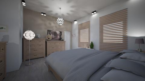 sypialnia pudrowy roz - Modern - Bedroom - by DERRYS