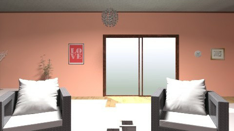 trying peach - Living room - by Anchal Kainth
