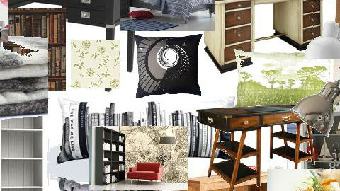Black_white w Color Room - by Rebecca Arce