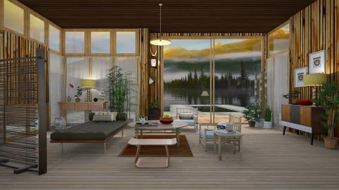 Bamboo Lake - Rustic - Living room - by janip