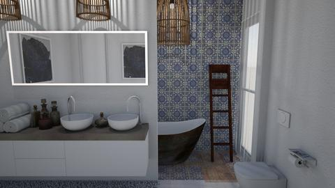 Blue Bathroom II - Rustic - Bathroom - by Daria Marienko