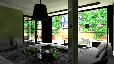 Integrado jardim - Glamour - Living room - by Talles Paganotti