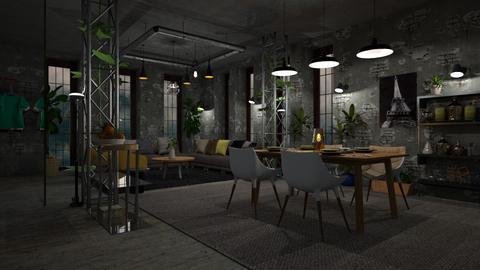 Industrial Grey - Dining room - by ZuzanaDesign