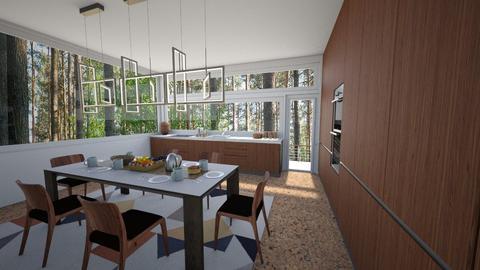 Mid Century Kitchen - Kitchen - by amyskouson