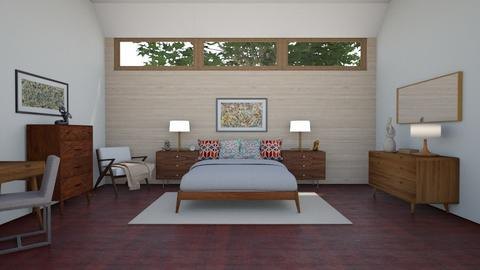 Mid Century Modern BR 3 - Bedroom - by Kelly Carter