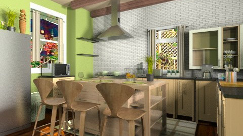 country style kitchen  - Country - Kitchen - by eyeforaneye19