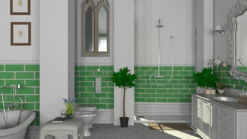 Moss Green - Classic - Bathroom - by Carliam