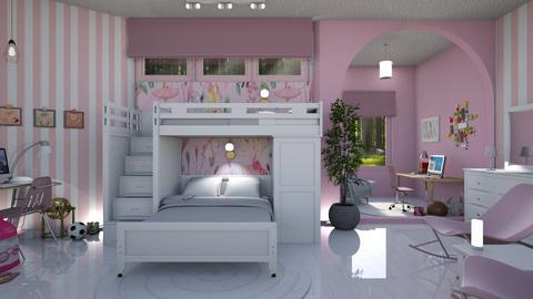Bunk Beds - Bedroom - by Sue Bonstra
