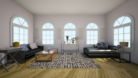pink - Feminine - Living room - by LAS95