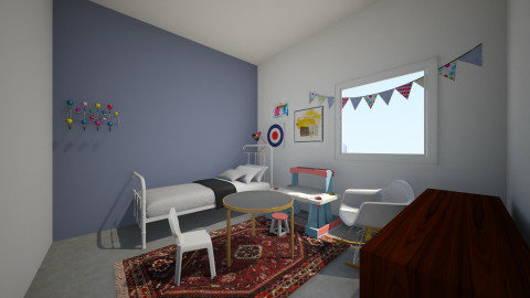 Ukon huone_1 - Kids room - by Essi_eames