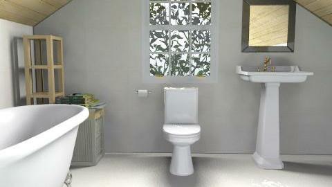 Attic bathroom - Minimal - Bathroom - by nilou